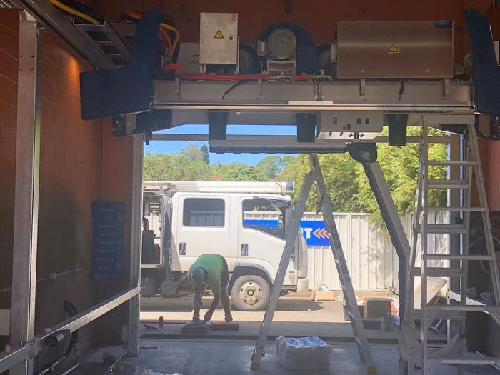 Leisuwash 360 installation in AUS