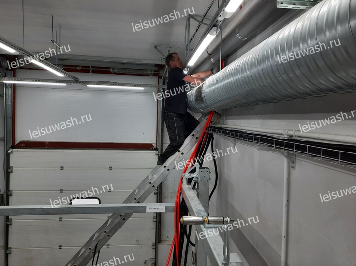 car wash installation in Novosibirsk